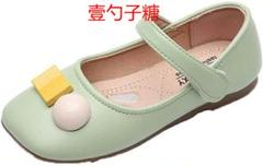 "Thumbnail of ""パンプス キッズ靴 ぺたんこ 異型 飾り ドレスシューズ スクエアトゥ レザー"""