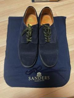 """Thumbnail of """"SANDERS hobo Utility Cap Toe Shoes Navy"""""""