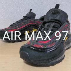 """Thumbnail of """"aa20.  NIKE AIR MAX 97 ブラック×レッドチェック柄"""""""
