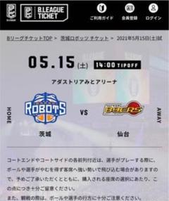 "Thumbnail of ""5月15日(土)茨城ロボッツ VS 89ers (ペア)"""