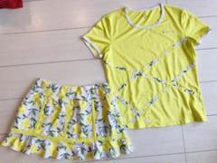 """Thumbnail of """"PARADISOパラディーゾ*レモン柄*切り替えフレアースコートとシャツのセット"""""""