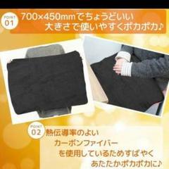 "Thumbnail of ""電気ブランケット 新品:黒"""