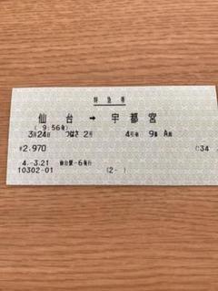 "Thumbnail of ""エル特急つばさ2号 特急券(仙山線経由)(使用済)"""