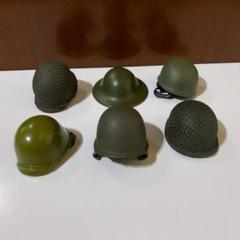 "Thumbnail of ""1/6 12インチ ヘルメット 6個セット 第二次世界大戦"""