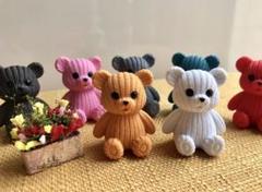 """Thumbnail of """"《新品》 ミニチュア  熊のぬいぐるみ クマ ぬいぐるみ フィギュア"""""""