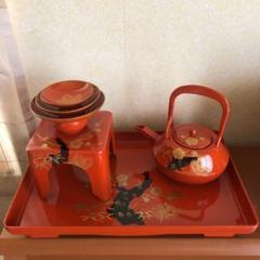 "Thumbnail of ""昭和レトロ 漆器食器セット (新品未使用)"""