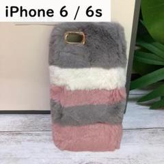 "Thumbnail of ""iPhone6/6s ケース かわいい モフモフケース グレー"""