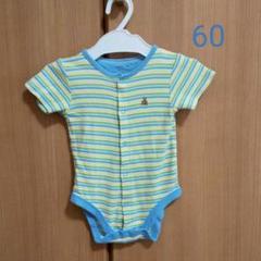 "Thumbnail of ""baby Gap ボーダー ロンパース 60センチ"""