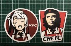"""Thumbnail of """"KFC風 防水ステッカー シール"""""""