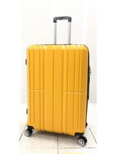 "Thumbnail of ""大型軽量スーツケース 8輪キャリーバッグ TSAロック付き Lサイズ イエロー"""
