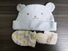 "Thumbnail of ""新生児手袋 くま帽子"""