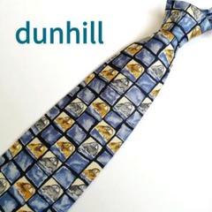 "Thumbnail of ""【イタリア製】dunhill(ダンヒル) メンズネクタイ ブルー 車柄 チェック"""