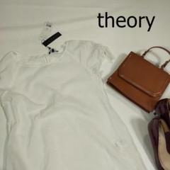 """Thumbnail of """"未使用 theory セオリー カットソー ホワイト 白 サイズM リボン タグ"""""""