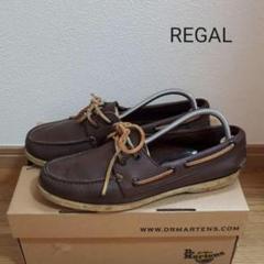 "Thumbnail of ""REGAL リーガル 革靴 レザー デッキ ブーツ シューズ ブラウン 25㎝"""