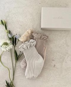 "Thumbnail of ""【残り1点】新品 monbebe モンベベ lace socks set"""