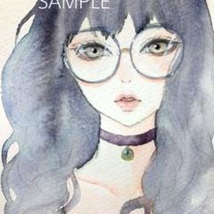 "Thumbnail of ""手描きイラスト オリジナル 水彩画"""