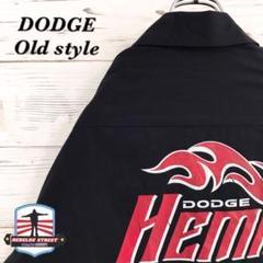 """Thumbnail of """"《USA製》DODGE☆ワークシャツ 半袖シャツ L バックロゴ ブラック"""""""