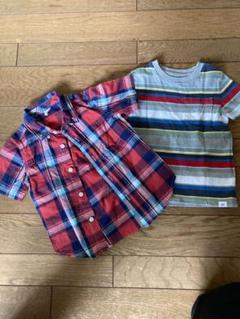 "Thumbnail of ""babygap 95cm 半袖チェックシャツと半袖Tシャツ"""