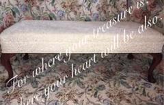 "Thumbnail of ""アンティーク アメリカ 猫脚 ロココ 家具 ベット フットレスト ベンチソファー"""