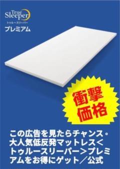 """Thumbnail of """"激安❣️トュルースリーパー ダブル マットレス+枕"""""""