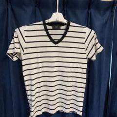 "Thumbnail of ""ボーダー Vネック Tシャツ"""