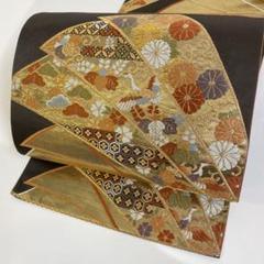 "Thumbnail of ""【春】11078s 袋帯 金糸 刺繍 リボンに花と鳥文様"""