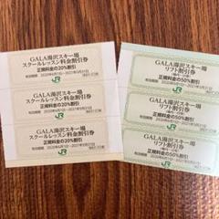 "Thumbnail of ""【3+3】 GALA湯沢スキー場 リフト50%割引券 & スキースクール割引券"""