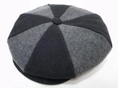 "Thumbnail of ""廃番デッドストックUSA製Wool Two Way Newsboyウール黒灰XL"""