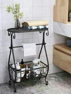 """Thumbnail of """"新品未使用 バスルームの収納棚  トイレ収納ラック  ブラック4009R"""""""