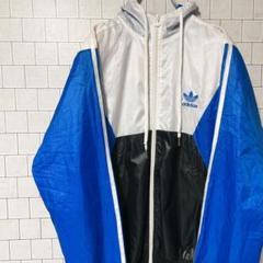 """Thumbnail of """"<人気>adidas アディダス ナイロンジャケット ホワイト ブルー M"""""""