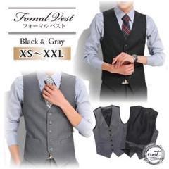 "Thumbnail of ""スーツ ベスト メンズ フォーマル XS S M L XL 黒 グレー 高品質"""