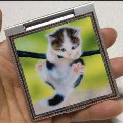 "Thumbnail of ""【個数限定】コンパクトミラー 手鏡/子猫 がんばれ!"""