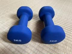 "Thumbnail of ""EGS(イージーエス) ネオプレーンダンベル 3kg×2個組 EG-3002"""