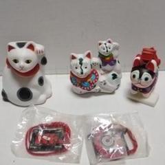 "Thumbnail of ""招き猫づくし(第1期)2体と狛犬1体"""