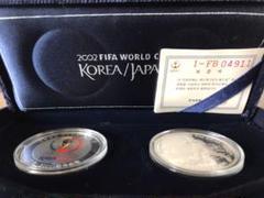 "Thumbnail of ""2001年FI FAワールドカップ記念銀貨他グッズ"""