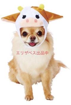 "Thumbnail of ""Petio 犬 牛 かぶりもの 帽子 もーこちゃん コスプレ ペティオ"""