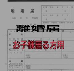"Thumbnail of ""a-771 【普】 離婚届 各種届 詳細記入例 (お子様居る方用)"""