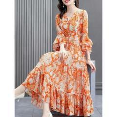"""Thumbnail of """"大きいサイズのワンピースの女性の新しいスタイルのプリントの長さのドレスM-34"""""""