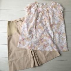 """Thumbnail of """"【未使用】マリ クレール_おしゃれで上品なブラウスシャツ&スカート2点セット"""""""