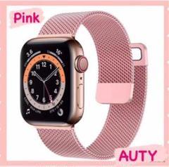 "Thumbnail of ""Apple watch ミラネーゼループバンド アップルウォッチ 韓国 ピンク"""