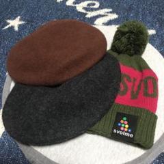 "Thumbnail of ""スボルメニット帽1、niko andベレー帽2"""