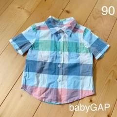 "Thumbnail of ""未使用 babyGAP♡チェックシャツ90"""
