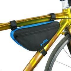 "Thumbnail of ""【防水】自転車フレームバッグ ぴったりサイズ ブラックブルー"""