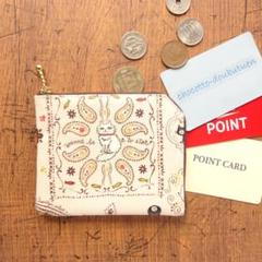"""Thumbnail of """"コインケース*猫とペイズリー*ラミネート生地2ポケット財布・カードケース"""""""