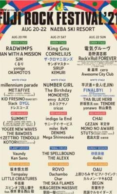 "Thumbnail of ""フジロックチケット 2021年 21日22日チケット"""