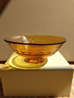 "Thumbnail of ""茶道具 期間限定特価 超耐熱ガラス平茶碗『琥珀』(水崎長寿)新品"""