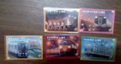 駅カード 在来線セット 115系E129系E127系GV-E400系  新潟支社