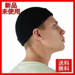 "Thumbnail of ""ニット帽 浅め 黒ブラック メンズ ワッチ ニット キャップ シンプル 韓国"""