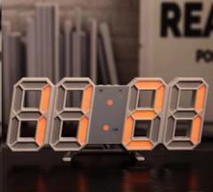 """Thumbnail of """"SNSで紹介されたそうです‼ --3D立体時計--白ぶちオレンジライト"""""""