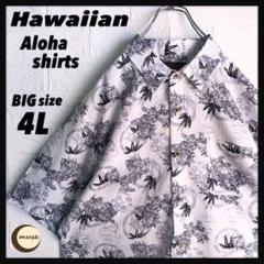 "Thumbnail of ""Hawaiian アロハシャツ ビッグサイズ 総柄 獅子 和柄"""